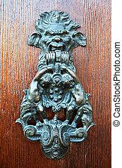 door handle knocker - Old metal door handle knocker