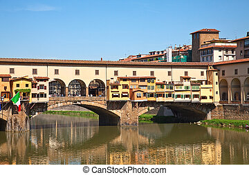 Old bridge in Florence - Ponte Vecchio in Florence, Italy