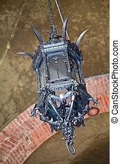 Old lantern - Old iron lantern in Siena, Italy