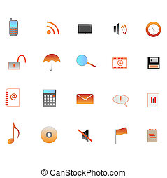 Image of various web icons.