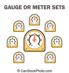 Gauge meter icon - Gauge meter vector icons sets design on...