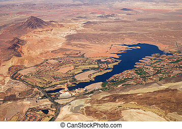Las Vegas Lake, nevada, Aerial View - Las Vegas Lake,...