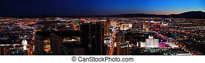 Las Vegas City skyline panorama night view with luxury hotel...