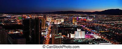 Las Vegas City skyline panorama night view with luxury hotel...