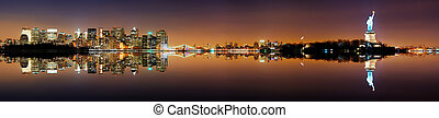 Manhattan, New York City Panorama - Manhattan, New York City...