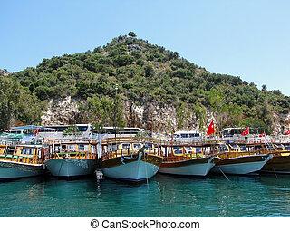 Moored boats, Turkey