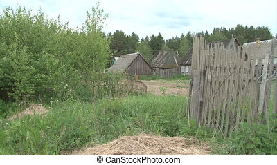 Remote Lonley Russian Village