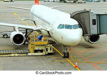 avión, ONU, cargador