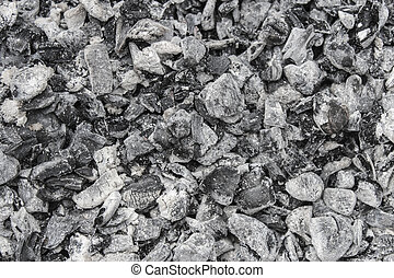 Ash - The cooled ash close-up as background