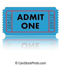 Blue Ticket Illustration