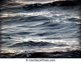 Stormy sea, black water texture