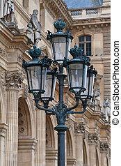 Old Lantern - Old lantern near facade of Louvre