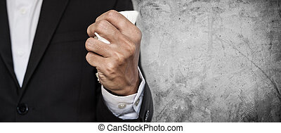 Business employee squeeze paper - Business employee squeeze...