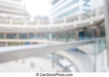 Blurred or Defocused office building from outside - Blurred...