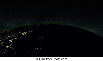 Planet earth at night