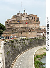 Rome - View of Castel SantAngelo, Castle of the Holy Angel...