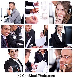 Group of business men and women - group of business...
