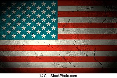 Grungy American Flag Background