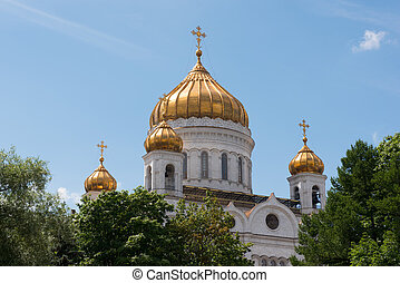 MOSCOW, RUSSIA - JUNE 24, 2016: Cathedral of Christ the...