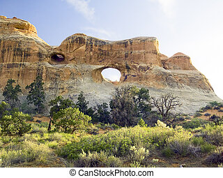 Tunnel Arch, Arches NP, Utah - The Tunnel Arch shot near...