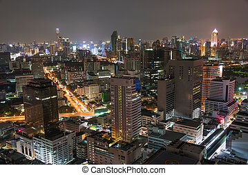 Aerial view of Bangkok, Thailand - Aerial view of Bangkok...
