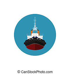 Icon tugboat for mooring of other courts - Icon tugboat, a...