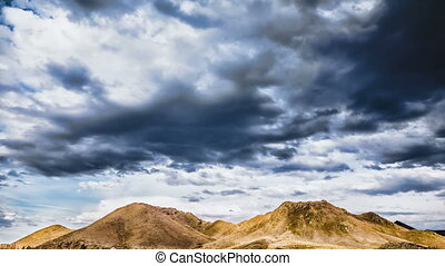 Stormy clouds in mountains - Stormy clouds in a blue sky...