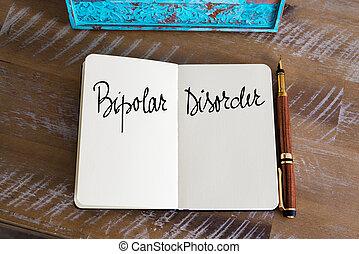 bipolar, cuaderno, desorden, manuscrito