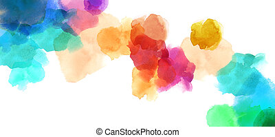 colorful spotty watercolour illustration painting background...