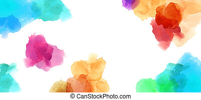 colorful spotty watercolour illustration painting background