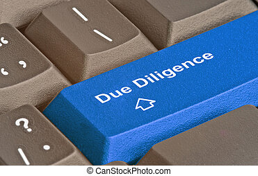keyboard for due diligence