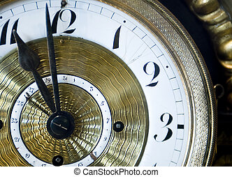 Old Time - A antique clock with ornate gold trim