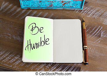 Handwritten Text Be Humble
