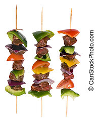 Beef Shishkabobs 8 - Preparing fresh beef steak shishkabobs...