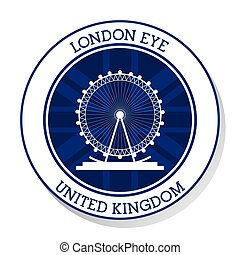 London eye. United kingdom. vector graphic