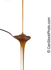 Caramel Syrup - An inviting trail of caramel lead right to...