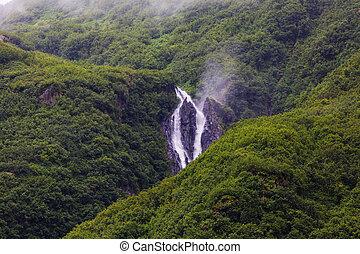 Waterfall in Alaska - Liberty Cap waterfall in Alaska