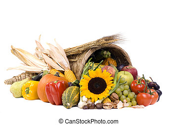 Cornucopia - A autumn horn of plenty Cornucopia full of...