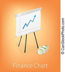 Flip chart isolated