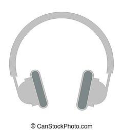 grey headphones icon