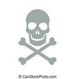 skull danger icon