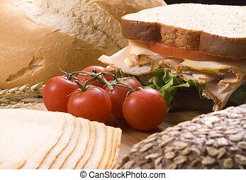 Deli Sandwich 010 - A fresh deli sandwich with tomatoes...