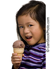 Eating a chocolate Cone