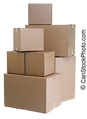 Moving - A large pile of moving boxes. One of the dreaded...