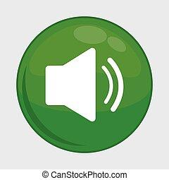 sound button icon. Social media design. vector graphic
