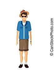 male tourist icon