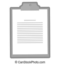 clipboard with paper icon
