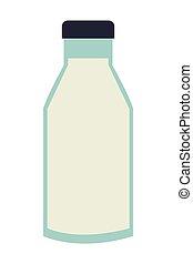 milk bottle icon - simple flat desigm milk glass bottle...