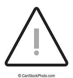 triangle caution icon - simple black line triangle with...