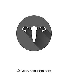 Vector healthy uterus simple icon - Vector healthy uterus...